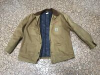 Carhartt Jacket Size 46 Regular Mens Duck Canvas Blanket Lined Coat USA Barn