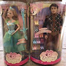 2006 Barbie 12 Dancing Princesses Prince Derek Ken Doll + Princess Delia