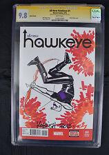 All-New Hawkeye 1 Marvel 2015 NM/MT CGC SS 9.8 Scott Koblish Sketch Blank Comic Art