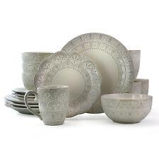 Stoneware Dinner Ware Set 16 Pc Dining Plates Dessert Bowls Mugs Luxury Dishes