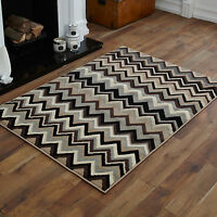 NEW LARGE EXTRA LARGE MEDIUM MODERN SMALL GREY BROWN CREAM BLACK WAVE BEST RUGS