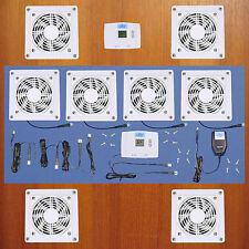 4-Zone AV Cabinet Cooling fans w/Digital Thermostat & multi-speed / White model