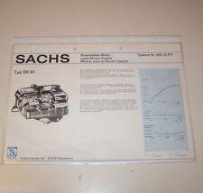 Typenblatt / Technische Daten Sachs Rasenmäher Motor SB 93 - Stand 1974!