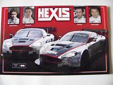 CARD FIA GT1 : HEXIS  ASTON MARTIN DBR9 / DUSSELDORP PICCINI & PICIONI HOHENADEL