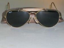 58[]14MM MEDIUM VINTAGE B&L RAY BAN L0216 G15 OUTDOORSMAN AVIATORS SUNGLASSES
