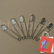 "Super Heavy Duty Jumbo 5"" Stainless Steel Safety Pins (Lot of 6 pcs.)"