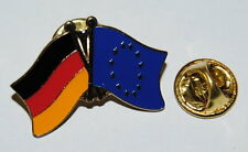 FREUNDSCHAFTSPIN 0060 PIN ANSTECKER DEUTSCHLAND / EUROPA FAHNE METALL PINS EU