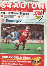 BL 91/92 VfB Stuttgart - SV Werder Bremen
