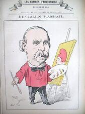 RASPAIL PEINTRE DéPUTé LOI 14 JUILLET CARICATURE GILL LESHOMMES D'AUJOURHUI 1878