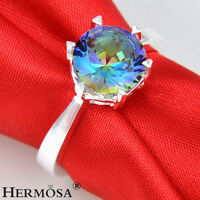 Rainbow Fire Topaz 925 Sterling Silver NEW Ring Size 7