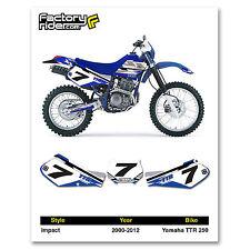 2000-2012 YAMAHA TTR 250 Number Plate Dirt Bike Graphic Impact By Enjoy MFG