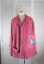 Women's Coats and Jackets - Cow & Lizard Chenille Coat - Pink (S/ CBB )