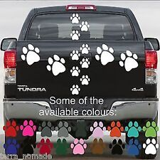 28 Dog Paw PRINT STICKERS Lots of Colours Car Wall Stickers Decals Graphics