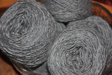 Fabulously Soft, 'Pewter' 4ply Un-Dyed Alpaca-Merino Knitting Yarn - 100 grams