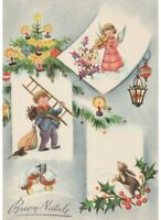 Galbi Card Tableware Years 60 Chimney Sweep Tree Christmas Mushrooms Angel