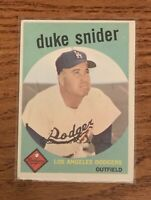 1959 Topps # 20 - Duke Snider Dodgers Baseball Card