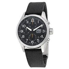 Oris Big Crown ProPilot Chronograph Automatic Black Dial Black Leather Mens