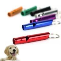 Dog Pet Puppy Walk Whistle Aluminium Keyring Training Loud Hiking Safety A0 Z7E8