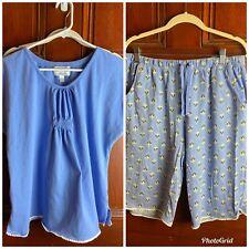 Carole Hochman Heavenly Soft Sleepwear 2 Piece Size Med