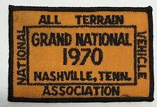 NATVA GRAND NATIONAL CLOTH PATCH-1970 NASHVILLE TN, ATTEX,HUSTLER,MAX,SCRAMBLER