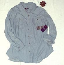 Chaps by Ralph Lauren Plus Sz. 2X Blue/White Striped Long Sleeve Shirt NWT