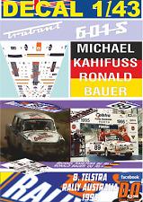 DECAL 1/43 TRABANT P601 MICHAEL KAHIFUS R.AUSTRALIA 1995 45th (01)