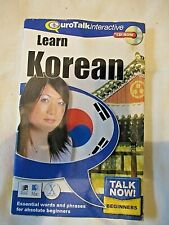 Learn Korean CD-Rom Beginners Euro-Talk interactive