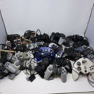 Large lot of Video Game Controllers NES SNES PS1 PS2 XBOX +++ Untested