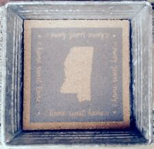 """Occasionally Made 6.25"""" x 6.25"""" x 1.5"""" Mississippi Trinket Tray  Removable Cork"""