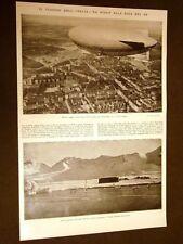 Anno 1928 Viaggio del Dirigibile Italia di Nobile da Stolp alla Baia del Re
