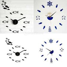 Mediterranean Style Wall Clock Rudder Tower Small   DIY Mute Clock Decor