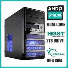 Gaming Computer Desktop PC 3.9 GHz Turbo 2TB Hard Drive 8GB RAM