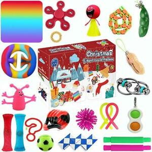 24Pcs Fidget Advent Calendar Toy Anxiety Relief Toys Holiday Christmas Calendar