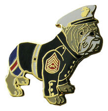 "U.S. Marine Corps Bulldog Dressed Metal Lapel Hat Pin 1-1/4"""
