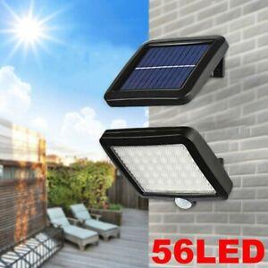 1pc 56 LED Solar Luz de Pared Impermeable Sensor de Movimiento Lámpara Exterior*