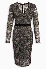 Next Black/Ecru Midi Lace Dress 14