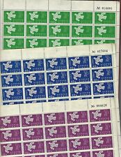 Cyprus sc#201-3 (1962) Complete Sheets of 50 MNH