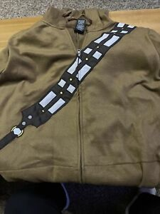 Star Wars Adult Men's Chewbacca Costume One-Piece Hooded Pajama Union Suit XL