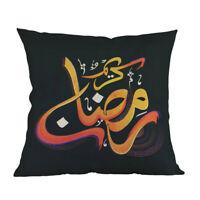 1X(45x45Cm Eid Mubarak Cushion Cover Ramadan Mubarak Decoration Home Islami R2R3
