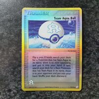 Team Aqua Ball 75/95 Reverse Holo EX Team Magma Vs Aqua Pokemon Card NM Minus