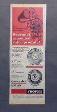 PUB PUBLICITE ANCIENNE ADVERT CLIPPING 220617 PENDULE ELECTRIQUE SANS FIL TROPHY