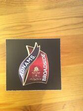 Adnams Broadside beer pump clip label