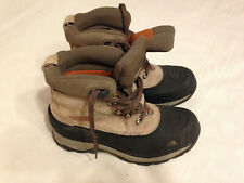 THE  NORTH  FACE  MEN'S  PRIMALOFT  BROWN/BLACK  WINTER  SNOW  BOOTS  SIZE  8 M