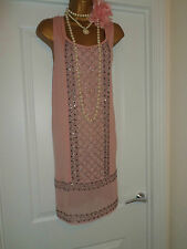 Next 1920 S style Gatsby Garçonne Charleston Sequin Beaded Robe Taille 10