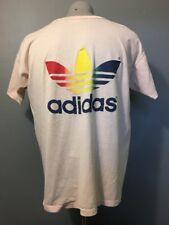 Vtg 70s 80s Adidas Rainbow Trefoil T-Shirt Mens XL Hawaii Marathon 50/50 Soft SS