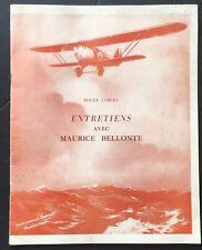 rare 1959 AVIATION Roger Coroli ENTRETIENS AVEC MAURICE BELLONTE