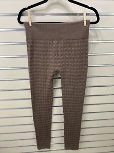 ONE 5 ONE NWOT Women's L/XL Brown Textured Knit Footless Tights
