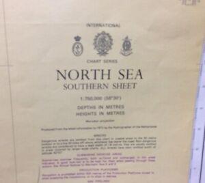 ADMIRALTY SEA CHART. No.2182A. NORTH SEA, SOUTHERN SHEET. 1973.