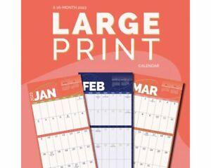 LARGE PRINT - 2022 MINI WALL CALENDAR 7x7 - BRAND NEW - 221016