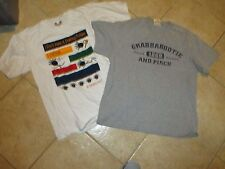 "(2) MENS GRAPHIC T SHIRTS (LARGE) FUNNY SAYINGS ""GRAB A BOOTIE & PINCH"" 2 COLORS"